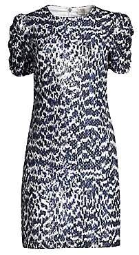 MICHAEL Michael Kors Women's Ruched Sleeve Viper Print Dress