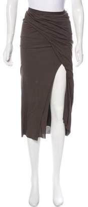 Rick Owens Lilies Knit Midi Skirt
