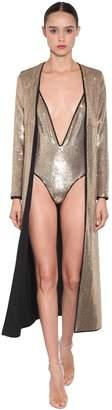 Long Sequin Embellished Jacket