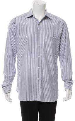 Isaia Striped Woven Shirt