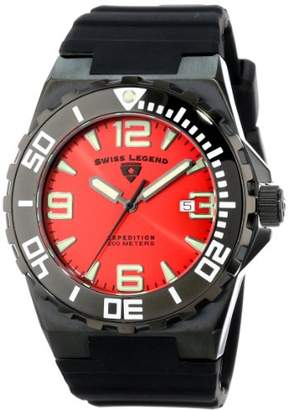 Swiss Legend Men's 10008-BB-05 Expedition Dial Black Silicone Watch