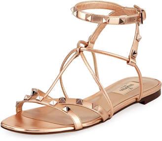 Valentino Free Rockstud Flat Sandal