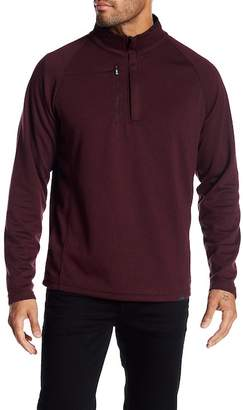Hawke & Co Double Knit Melange 1/4 Zip Sweatshirt