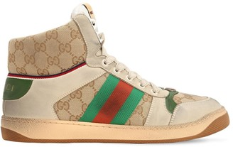 c30ffe781 Gucci Screen Hike Gg Leather   Canvas Sneakers