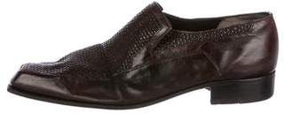 Artioli Woven Leather Loafers