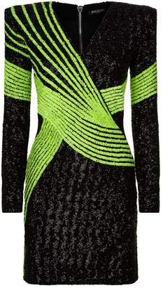 Balmain Flourescent Sequin Dress
