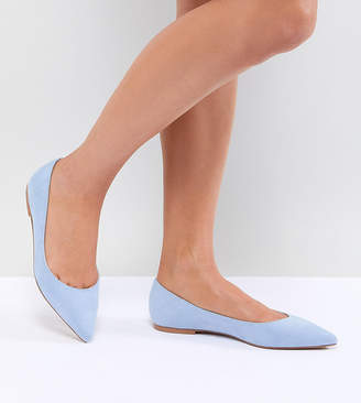 Asos Design DESIGN Latch Pointed Ballet Flats