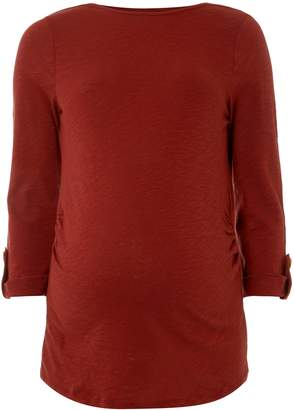 Dorothy Perkins Womens **Maternity Rust Button Tab T