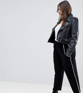 Asos DESIGN Curve tapered pants with contrast bind