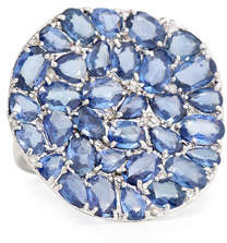 Rina Limor Fine Jewelry Signature Slice-Cut Sapphire & Diamond Statement Ring, Size 7