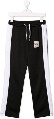No.21 Kids contrast track trousers