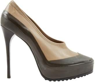 Burberry Green Leather Heels