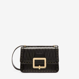 Bally The Janelle Bag Black, Women's quilted calf leather shoulder bag in black