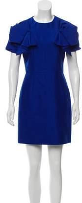 Alexander McQueen Ruffle-Trimmed Wool Dress wool Ruffle-Trimmed Wool Dress