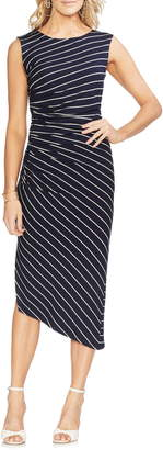 Vince Camuto Parlour Stripe Side Ruched Dress
