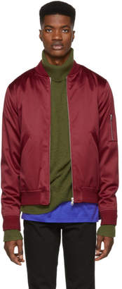 A.P.C. Red Tough Bomber Jacket