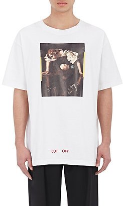 Off-White c/o Virgil Abloh Men's Painting-Graphic T-Shirt-White $300 thestylecure.com