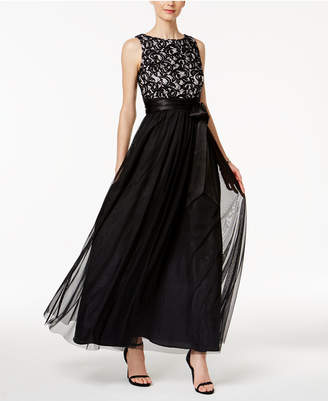 Jessica Howard Sequined Lace Mesh Gown $139 thestylecure.com