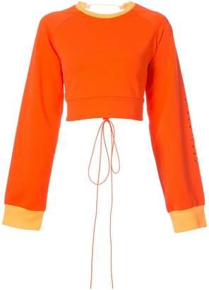 FENTY PUMA by Rihanna laced crop sweatshirt