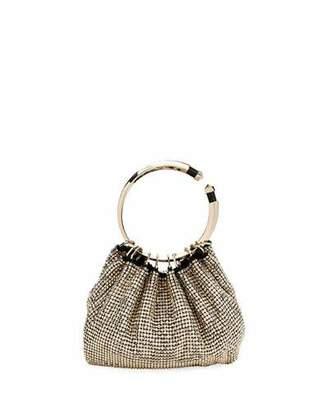 Valentino Bebop Ring Loop-Handle Clutch Bag, Gold