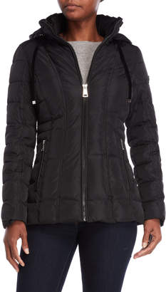 Calvin Klein Quilted Hooded Fitted Jacket