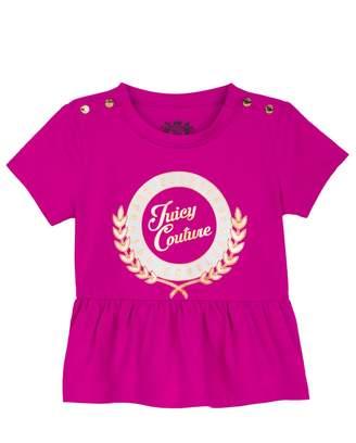 Juicy Couture Collegiate Laurel Peplum Tee for Baby