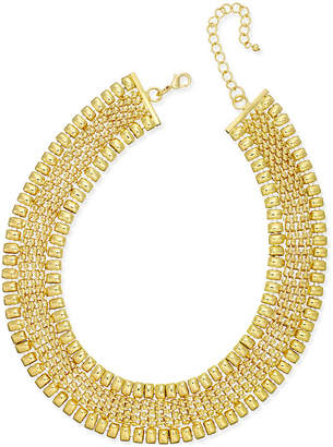 Thalia Sodi Gold-Tone Wide Collar Necklace