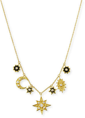 Amrapali Legend 18k Heritage Mystic Enamel Charm Necklace w/ Diamonds