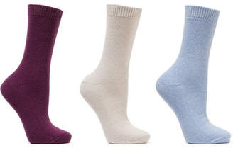 Falke Set Of Three Knitted Socks - Grape