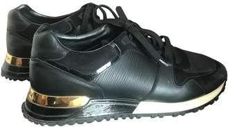 Louis Vuitton Run Away Black Leather Trainers