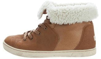 UGG Australia Croft Luxe Suede Sneakers $130 thestylecure.com