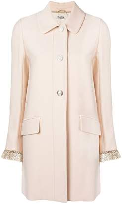 Miu Miu embellished single-breasted coat