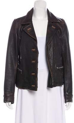 Golden Goose Distressed Leather Jacket