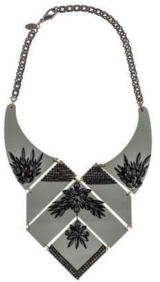 Erickson Beamon Geometric Crystal Bib Necklace