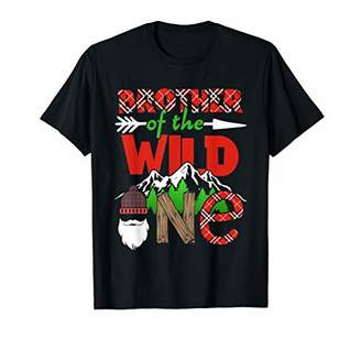 BROTHER of the Wild One Thing 1st Birthday Scottish Plaid T-Shirt