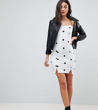 Asos Tall TALL Cami Square Neck Polka Dot Mini Dress