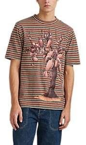 Loewe Men's Pottery-Tree Striped Cotton T-Shirt - Md. Red