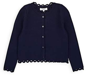 Milly Kids' Scalloped Compact Knit Cardigan