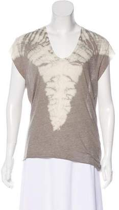 Raquel Allegra Tie Dye Textured Top