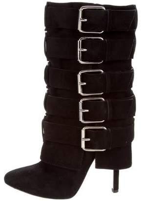 Giuseppe Zanotti x Balmain Mid-Calf Buckle Boots