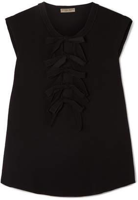 Bottega Veneta Bow-detailed Crepe Top - Black