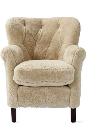 Serena & Lily Belgian Club Chair - Shearling