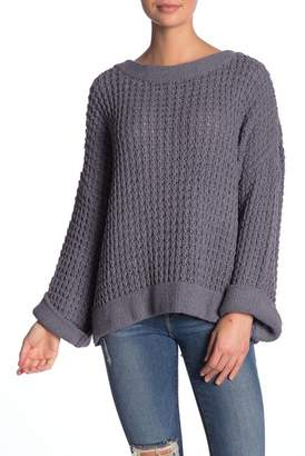Vintage Havana Lace-Up Knit Sweater
