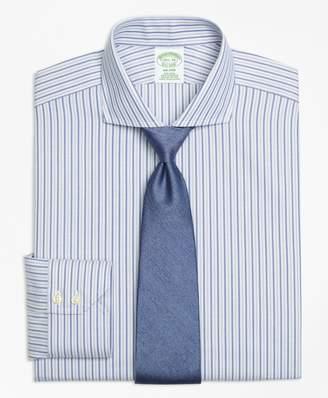 Brooks Brothers Milano Slim-Fit Dress Shirt, Non-Iron Herringbone Alternating Stripe