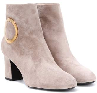 Roger Vivier Chunky Trompette suede ankle boots
