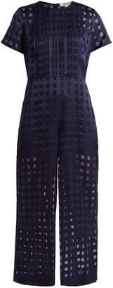 Diane von Furstenberg Pleat-front wide-leg jumpsuit
