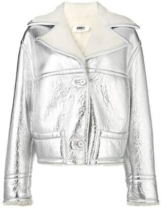 MM6 MAISON MARGIELA (エムエム6 メゾン マルジェラ) - Mm6 Maison Margiela metallic shearling jacket