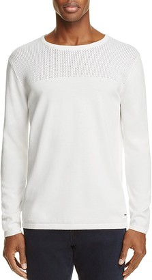Scotch & Soda Perforated Cotton Sweater $115 thestylecure.com
