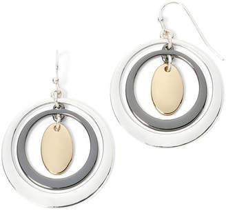 Liz Claiborne Tri-Tone Orbital Drop Earrings