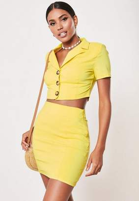 c19f268d3144 Missguided Yellow Co Ord Mini Skirt